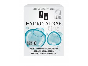 AA HYDRO ALGAE BLUE MULTI HYDRATION SEBUM REDUCTION kartonik