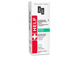 AA HELP ACNE Calming and Regenerating Cream 529x570