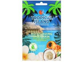 Marion Tropical Island Thaiti Paradise Nawilzajaca Maska Na Tkaninie mini