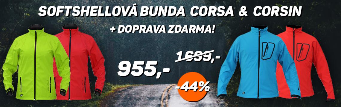 Softshellové bundy Corsa a Corsin sleva 44%