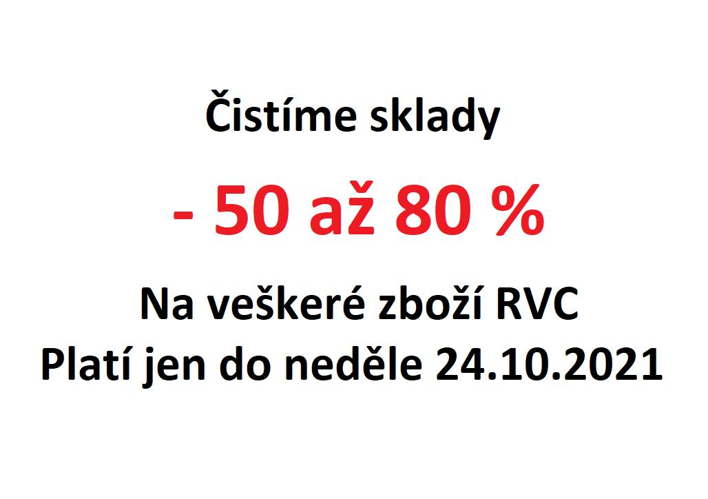 Sleva 50% - 80% na RVC