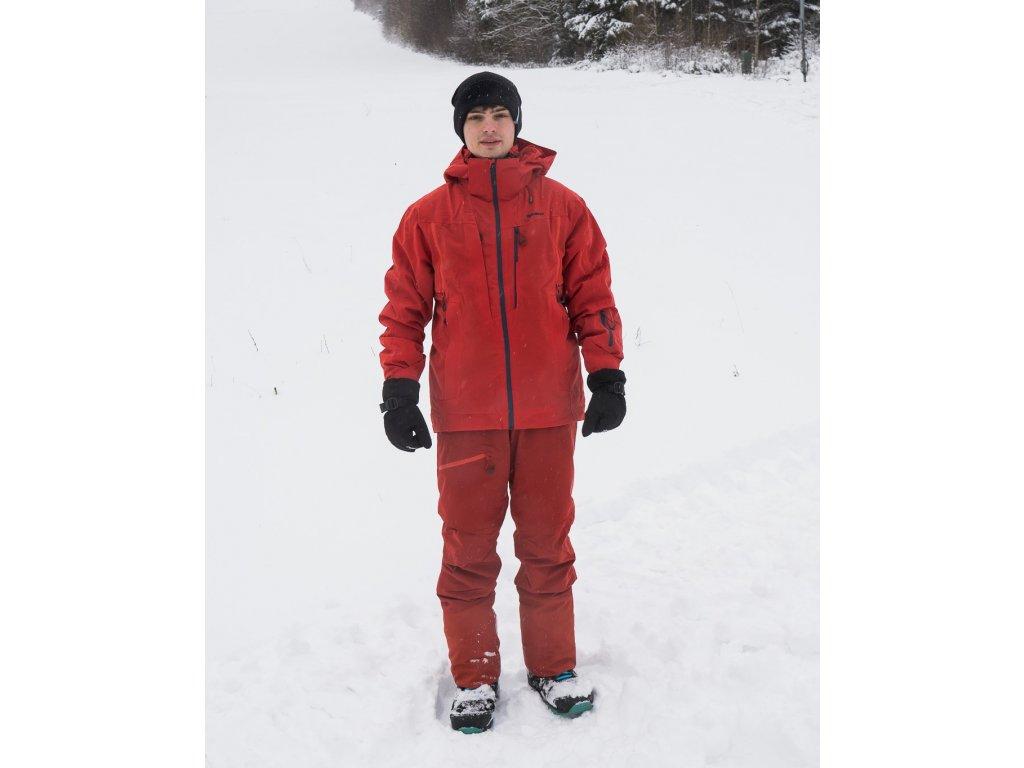 Pánská lyžařská bunda Montry M červená  Dárek v hodnotě 199,- zdarma