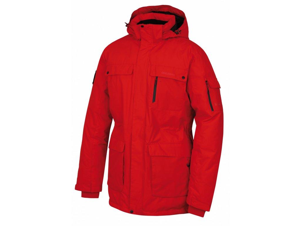 Pánská péřová bunda Dantex M červená  Dárek v hodnotě 199,- zdarma