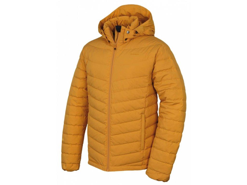 Pánská péřová bunda Donnie M krémově žlutá  Dárek v hodnotě 199,- zdarma