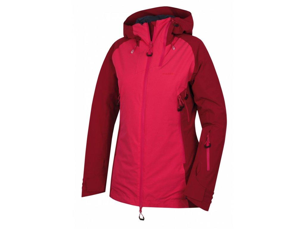 Dámská lyžařská plněná bunda Gambola L purpurová / růžová  Dárek v hodnotě 199,- zdarma