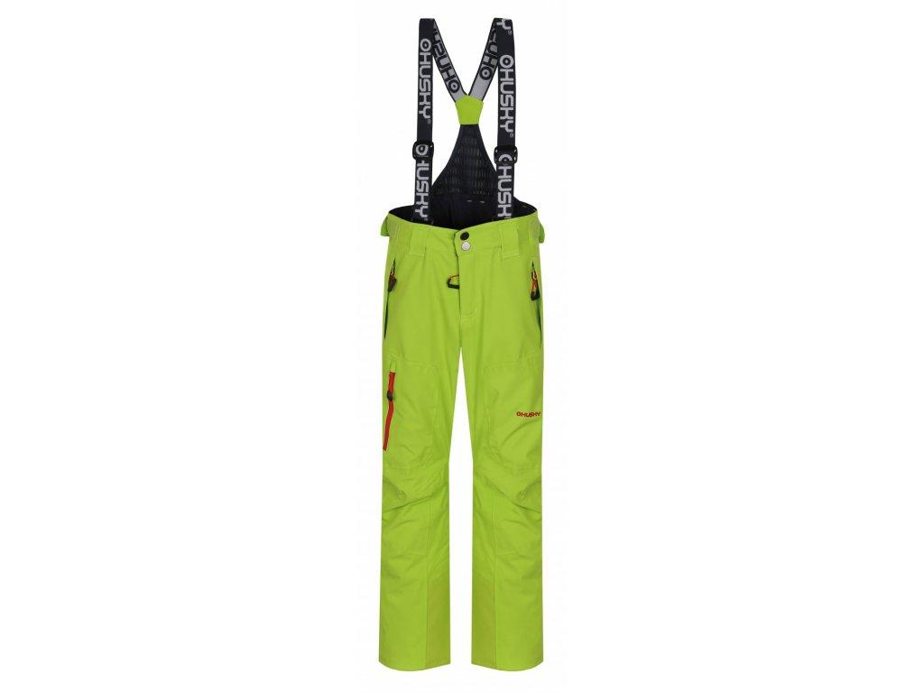 Dětské lyžařské kalhoty Zeus Kids výrazně zelená
