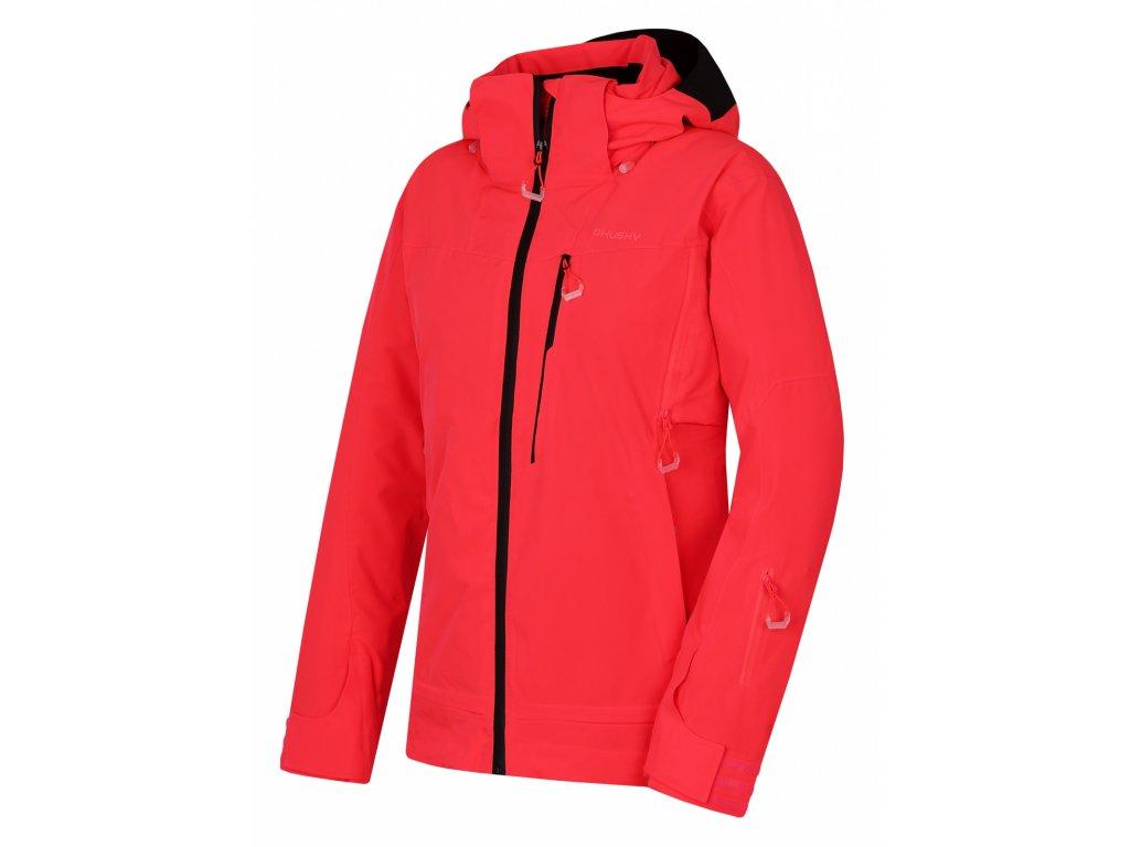 Dámská lyžařská bunda Montry L neonově růžová  Dárek v hodnotě 199,- zdarma