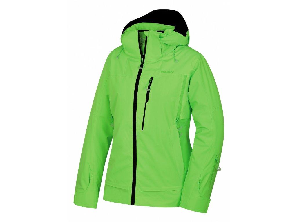 Dámská lyžařská bunda Montry L neonově zelená  Dárek v hodnotě 199,- zdarma