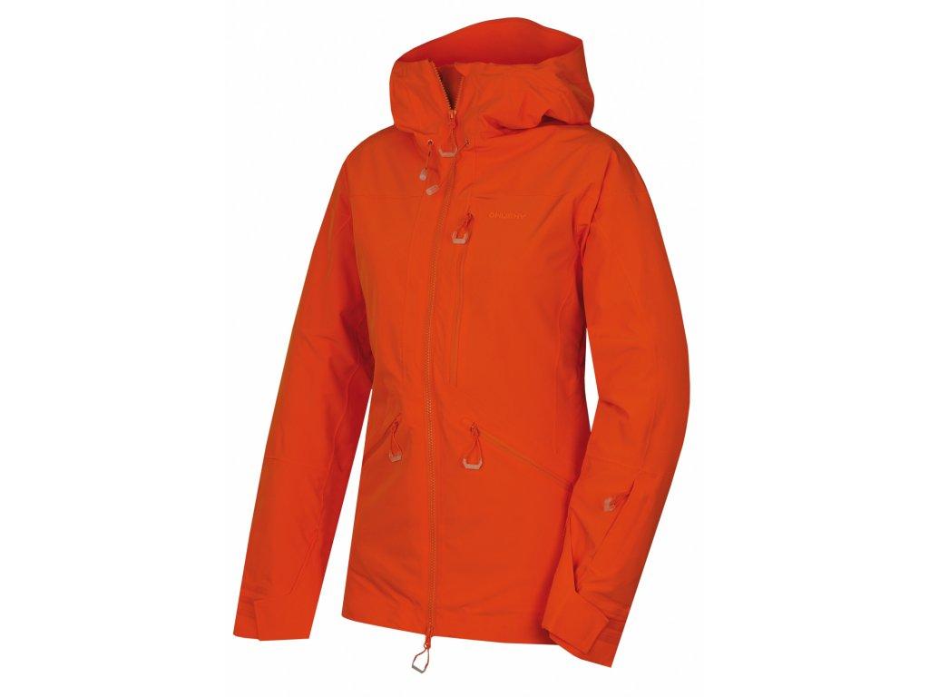 Dámská lyžařská bunda Gomez l výrazně oranžová  Dárek v hodnotě 199,- zdarma