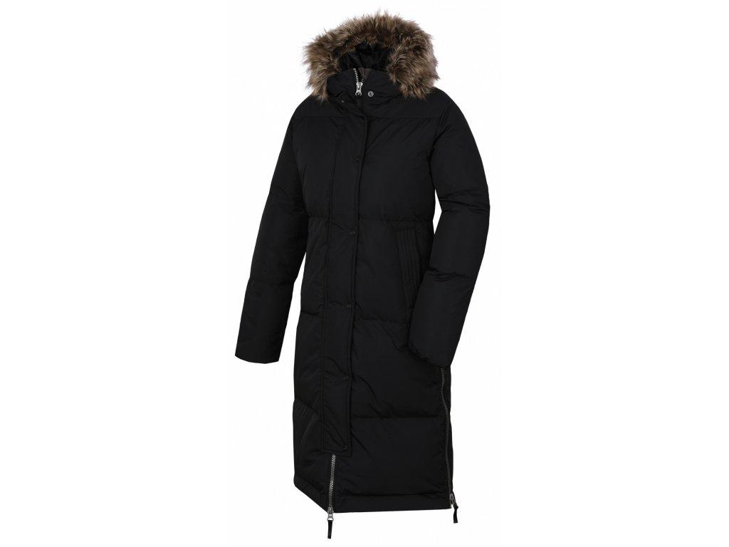 Dámský péřový kabát Downbag L černá  Dárek v hodnotě 199,- zdarma