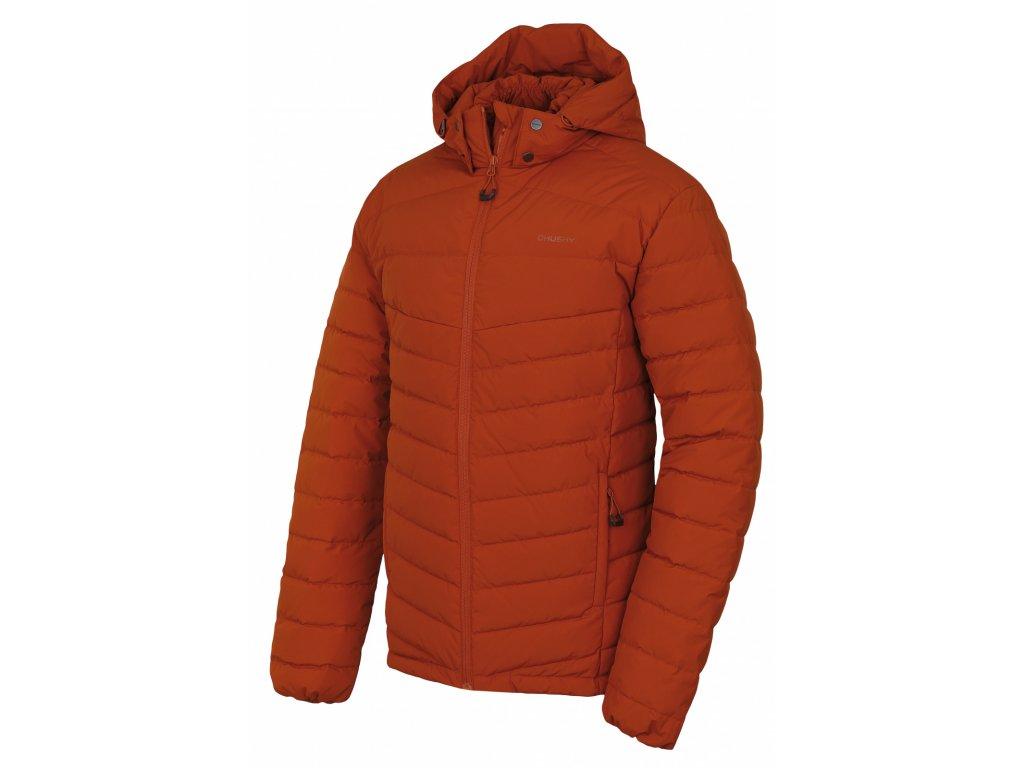 Pánská péřová bunda Donnie M oranžovohnědá  Dárek v hodnotě 199,- zdarma