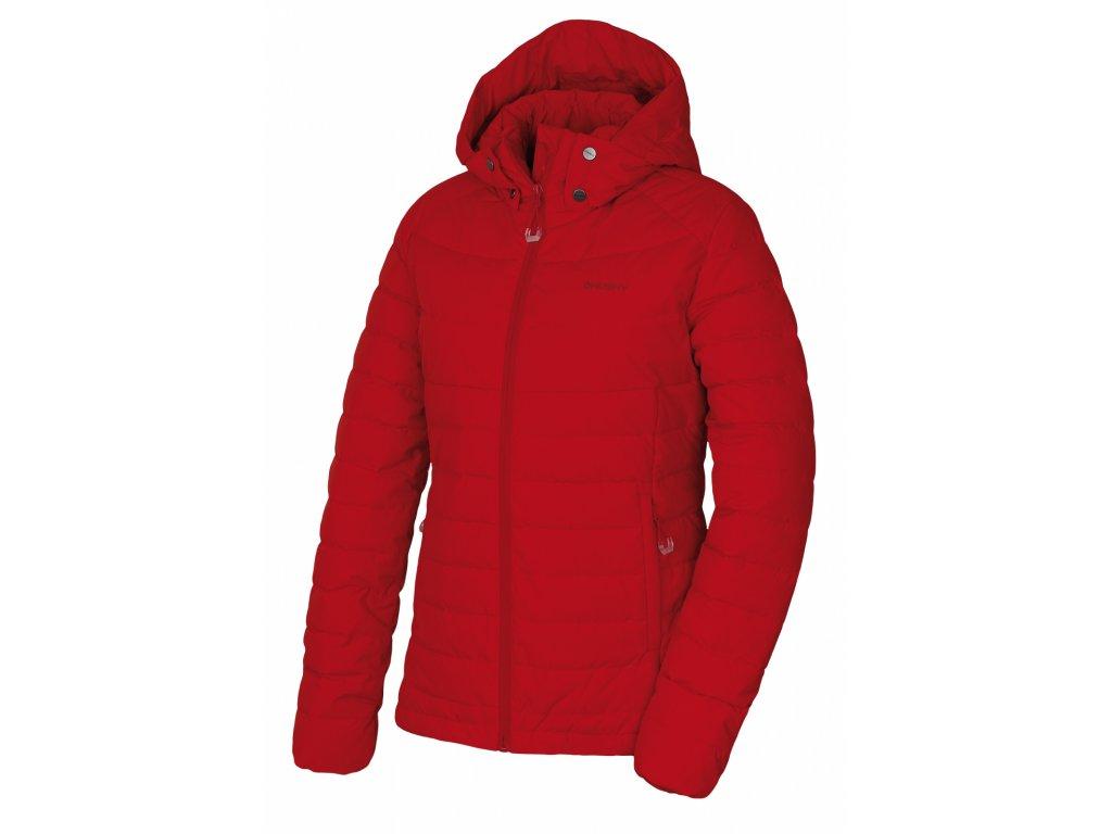 Dámská péřová bunda Donnie L červená  Dárek v hodnotě 199,- zdarma