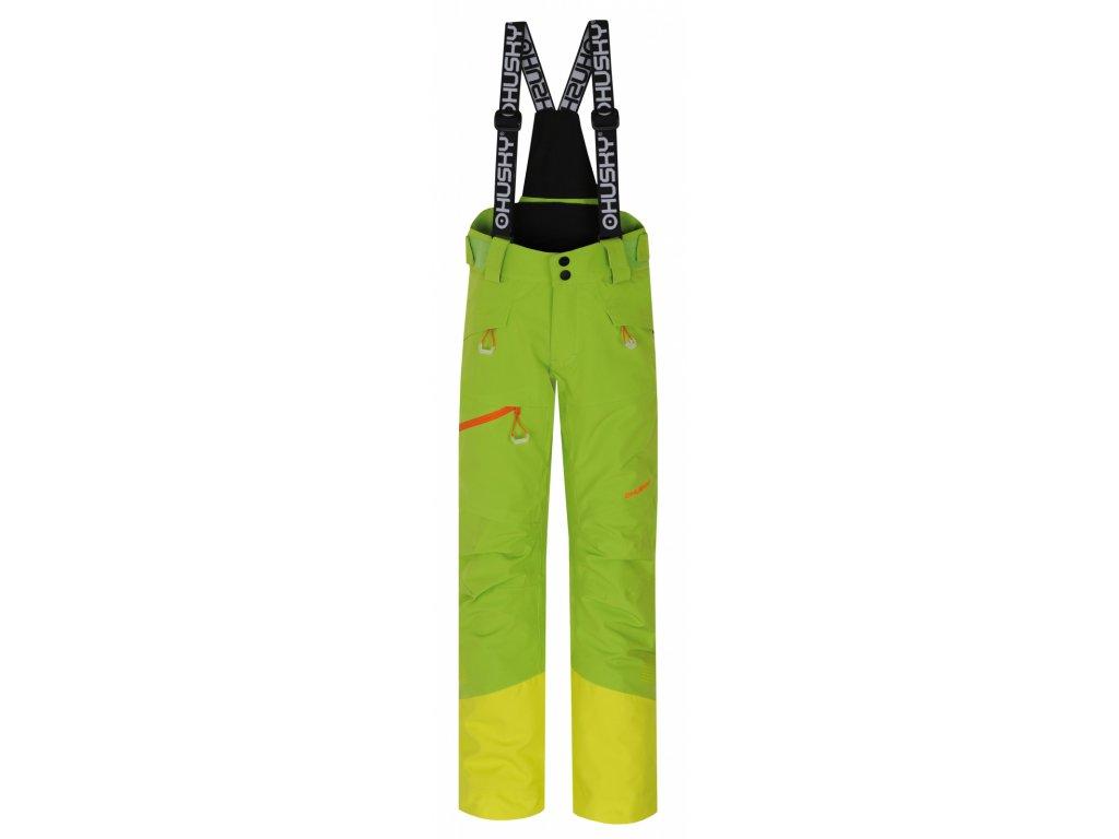 Dětské lyžařské kalhoty Gilep Kids zelená  Dárek v hodnotě 199,- zdarma