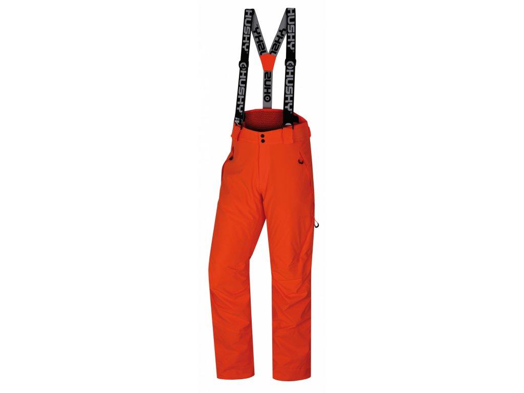 Pánské lyžařské kalhoty Mitaly M neonově oranžová  Dárek v hodnotě 199,- zdarma