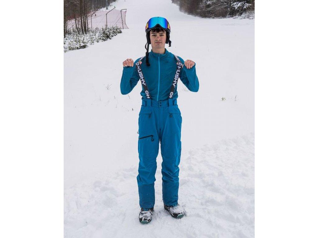Pánské lyžařské kalhoty Gilep M modrá  Dárek v hodnotě 199,- zdarma