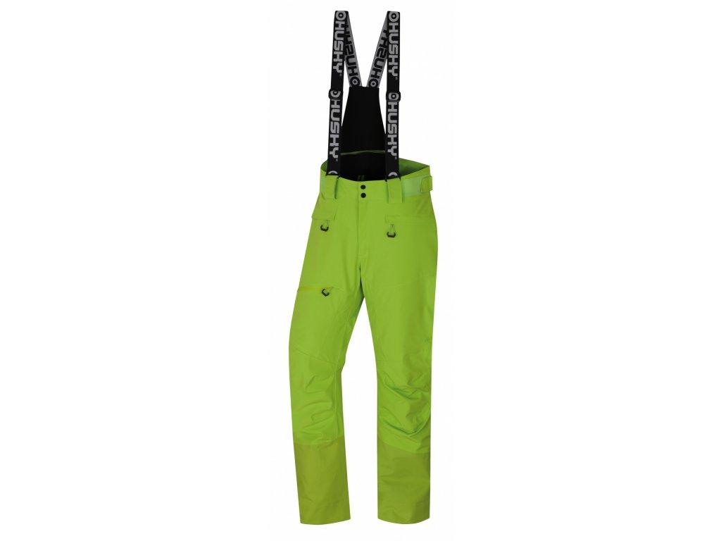 Pánské lyžařské kalhoty Gilep M zelená  Dárek v hodnotě 199,- zdarma