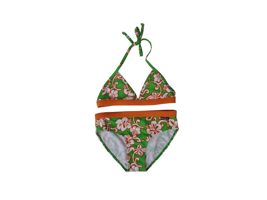 Plavky Elemar dívčí - kytičky