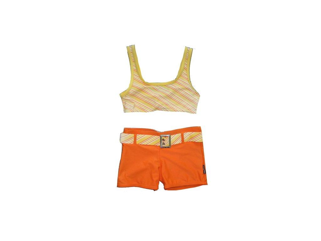Plavky Elemar dívčí oranžové
