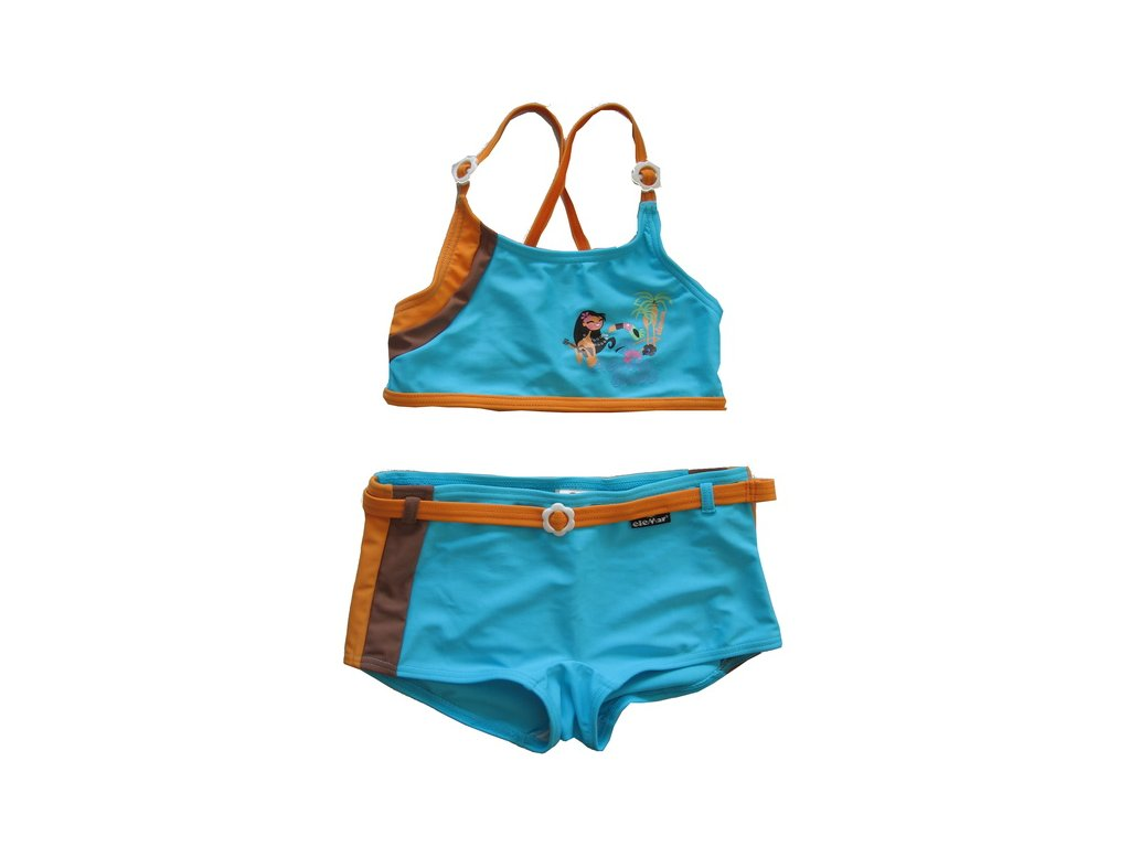 Plavky Elemar dívčí dvoudílné