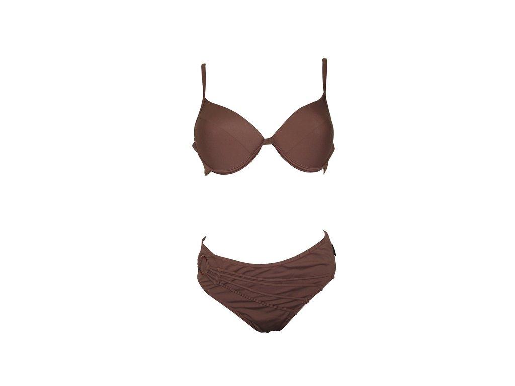 Plavky Elemar dámské dvoudílné hnědé