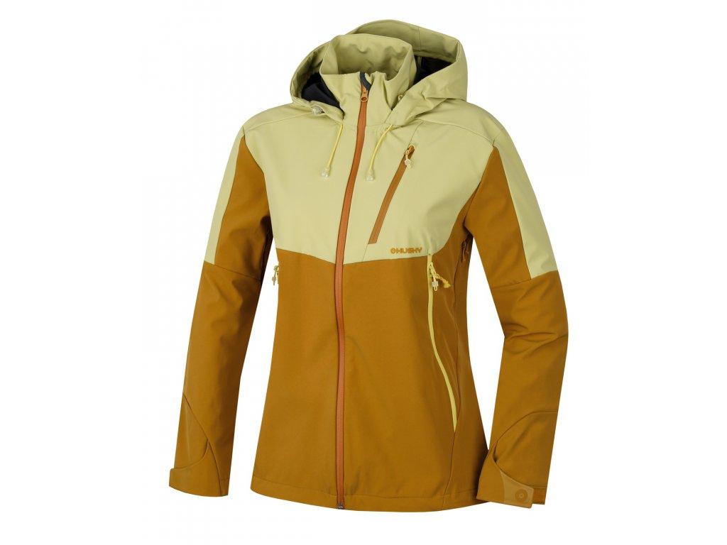 Dámská outdoor bunda Sauri L sv. žlutá  Dárek v hodnotě 199,- zdarma