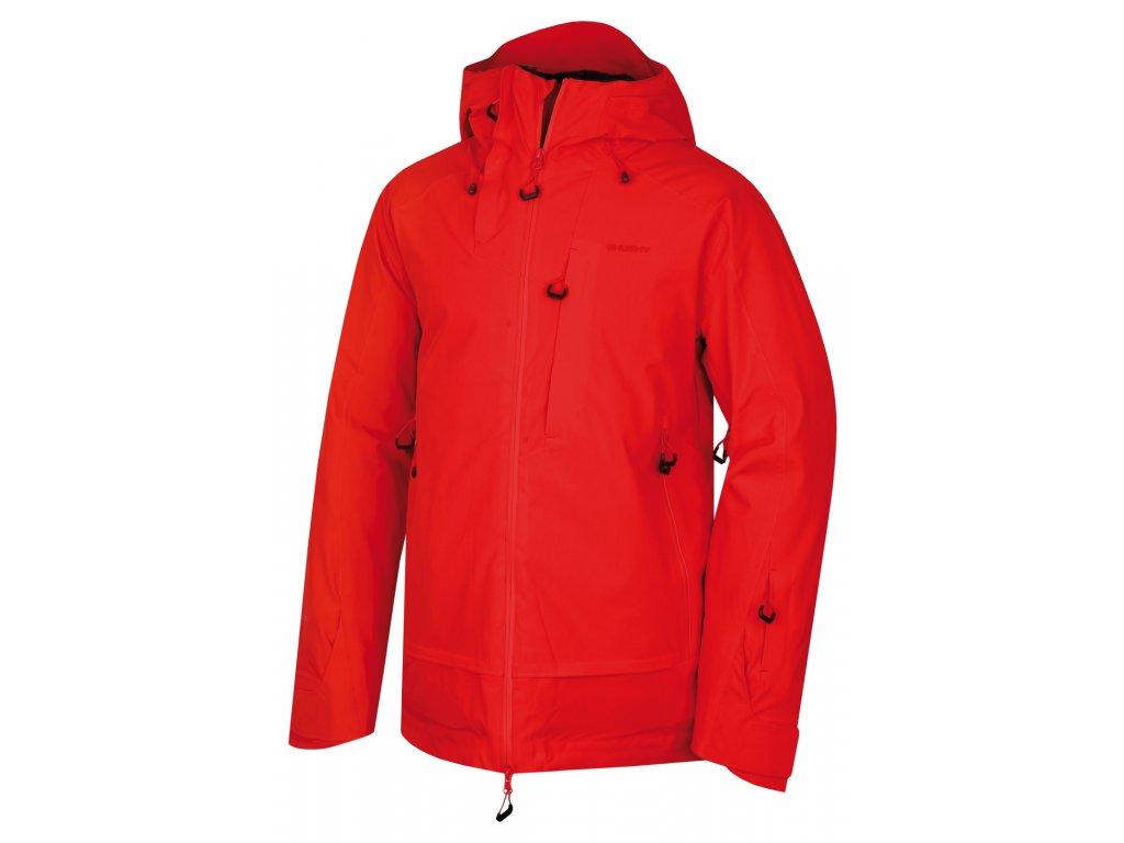 Pánská lyžařská bunda Gombi M červená  Dárek v hodnotě 199,- zdarma