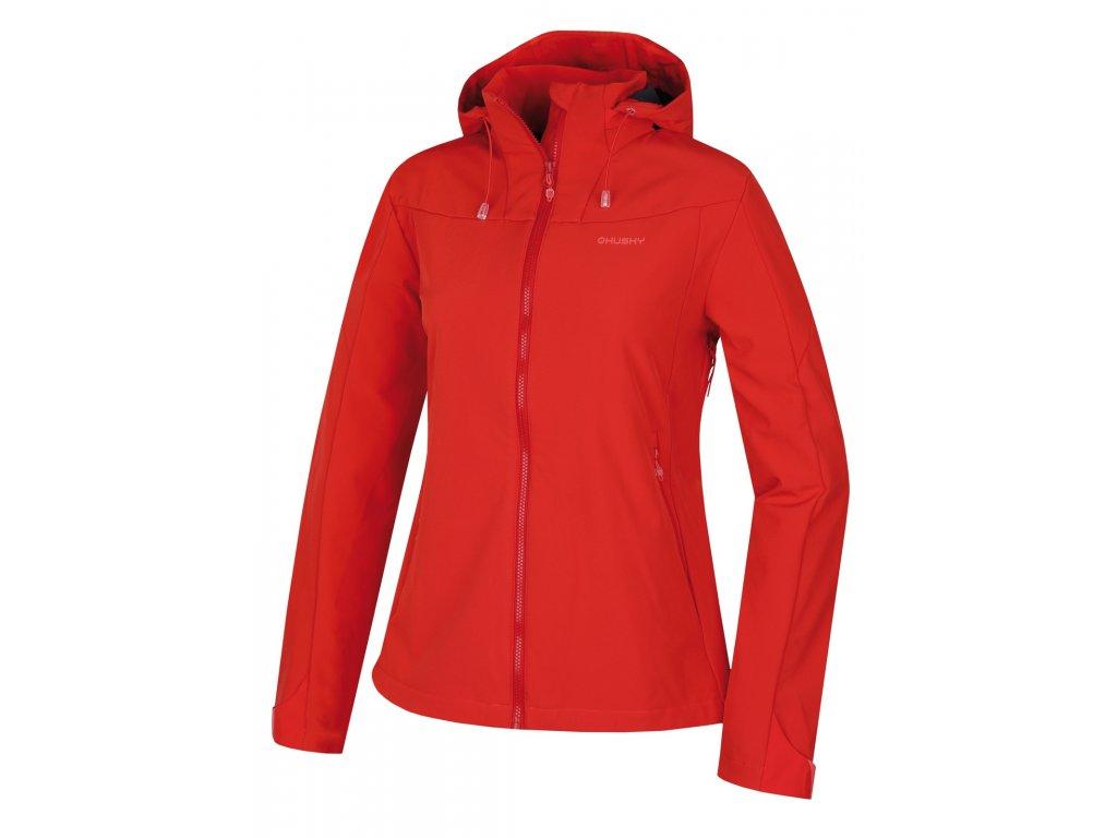 Dámská softshell bunda Sahony L jemná červená