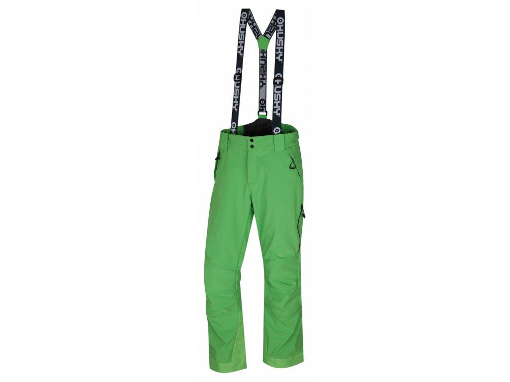 Pánské lyžařské kalhoty Galti M sv. zelená