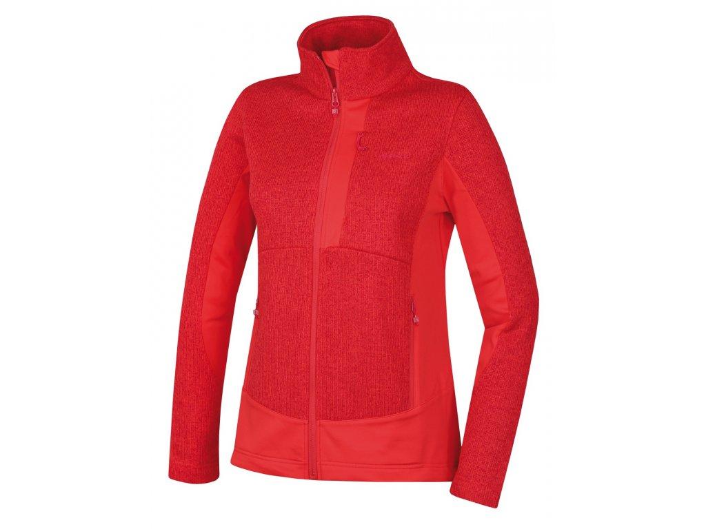 Dámský fleecový svetr Alan L jemná červená