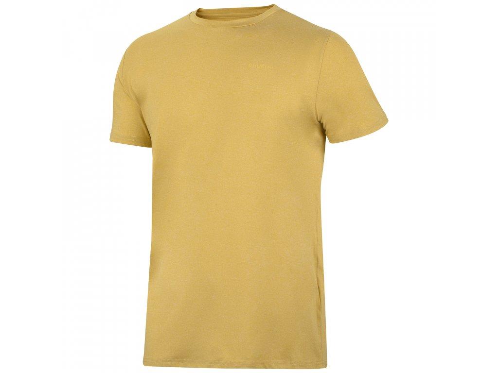 Pánské triko Taiden M krémově žlutá