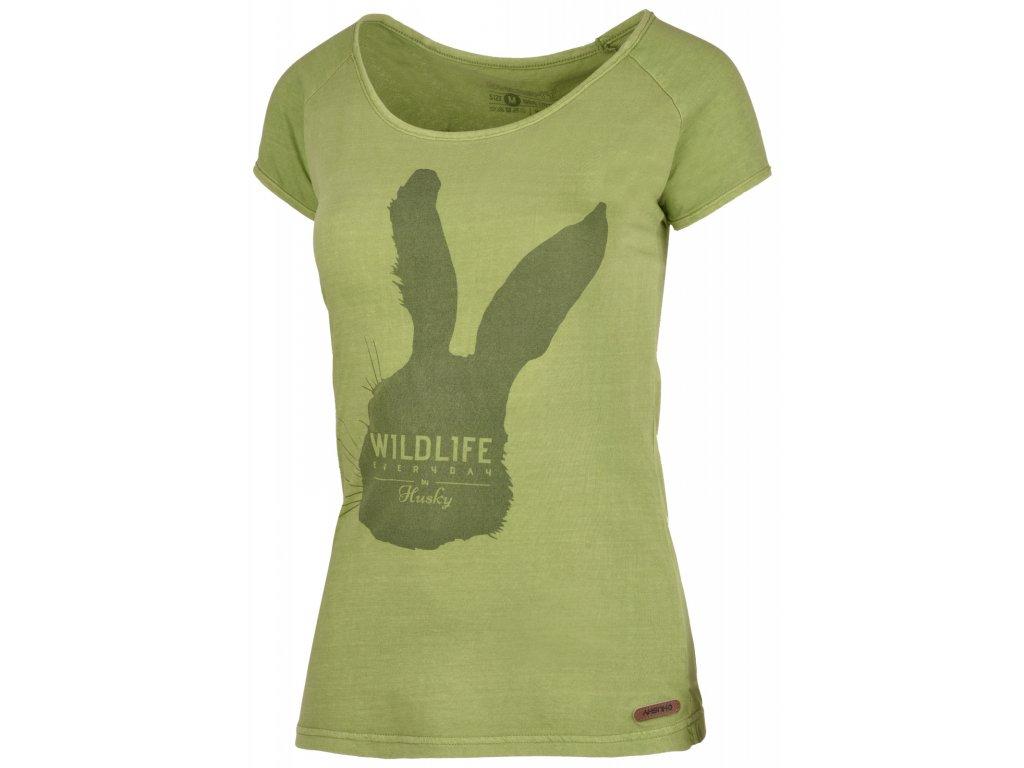 Dámské triko Rabbit L tm.zelená