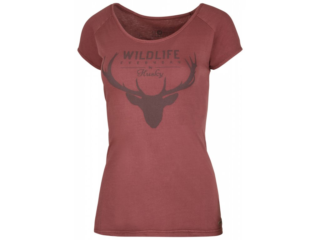 Dámské triko Deer L tm. cihlová