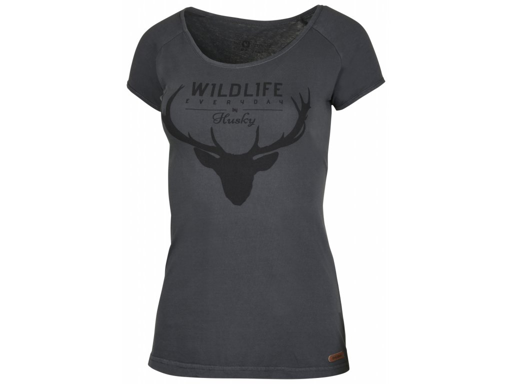 Dámské triko Deer L černý mentol