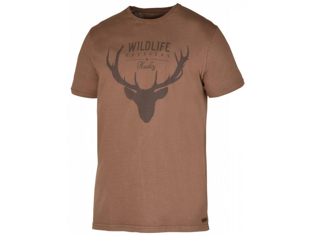 Pánské triko Deer M hnědá