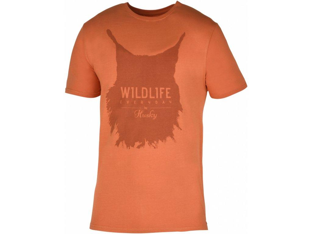 Pánské triko Lynx M tm. oranžová