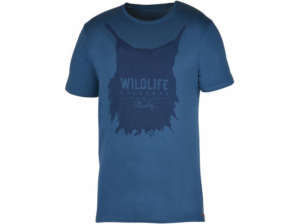 Pánské triko Lynx M tm. modrá