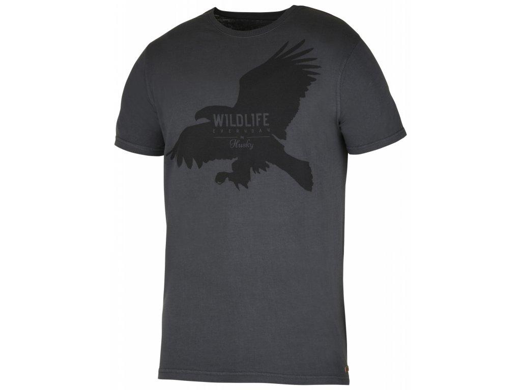 Pánské triko Eagle M černý mentol