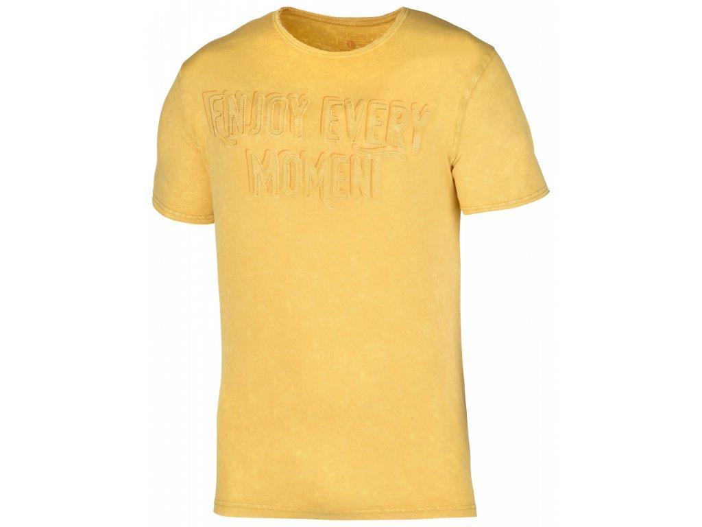 Pánské triko Bueno M krémově žlutá