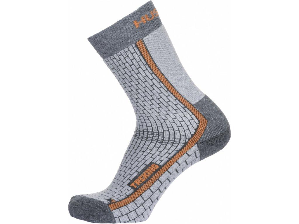 Ponožky Treking šedá/oranžová