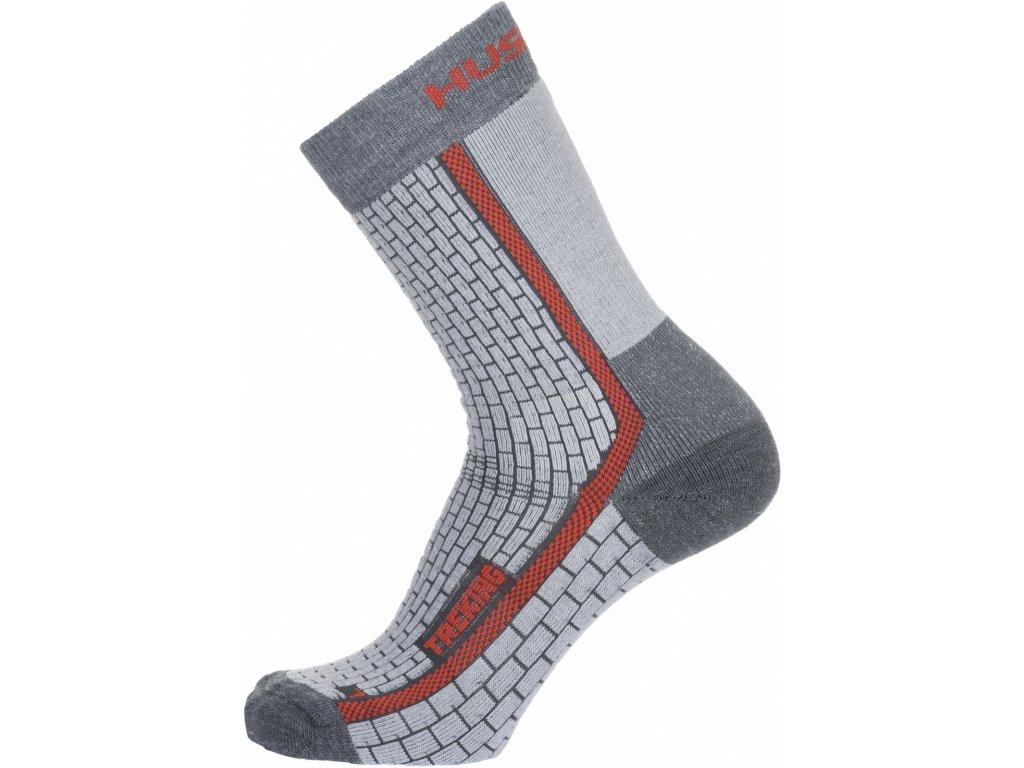 Ponožky Treking šedá/červená