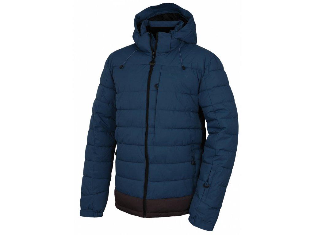 Pánská plněná zimní bunda Nerel M tm. modrá