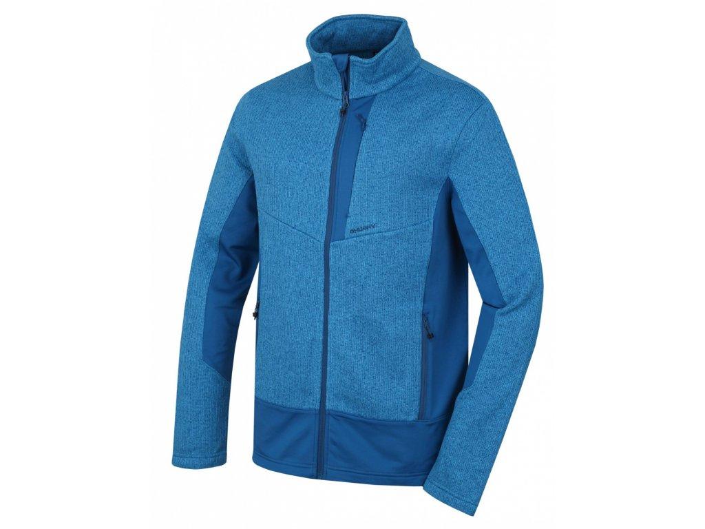 Pánský fleecový svetr Alan M tm. modrá