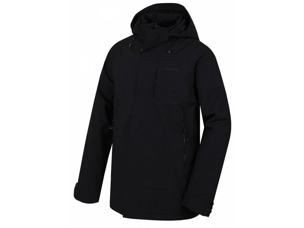 Pánský hardshell plněný kabát Nigalo M černá  Dárek v hodnotě 199,- zdarma