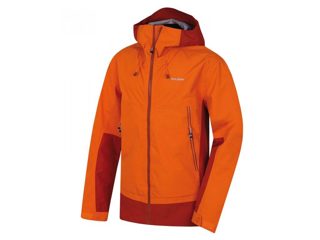 Pánská hardshellová bunda Nanook M oranžová  Dárek v hodnotě 199,- zdarma