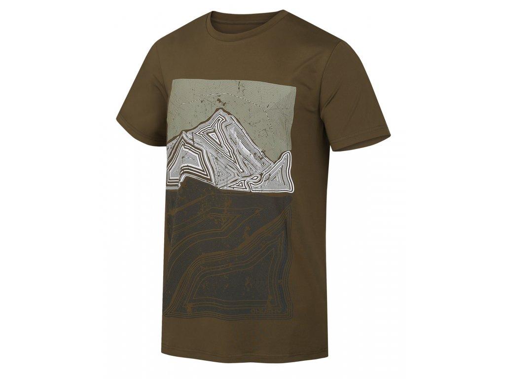 Pánské triko Tash M tm. olivová
