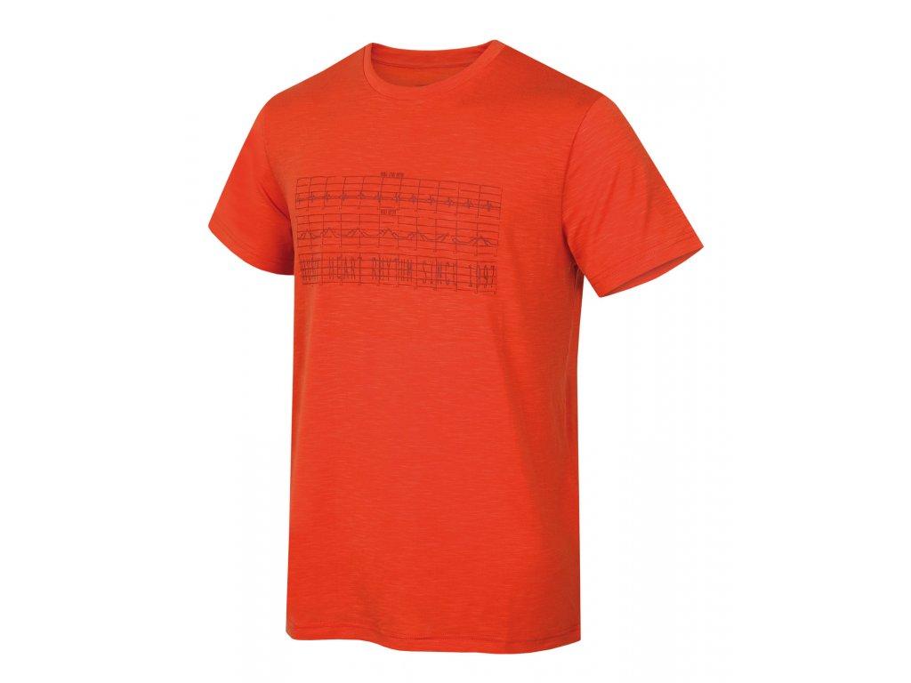 Pánské triko Tingl M cihlová