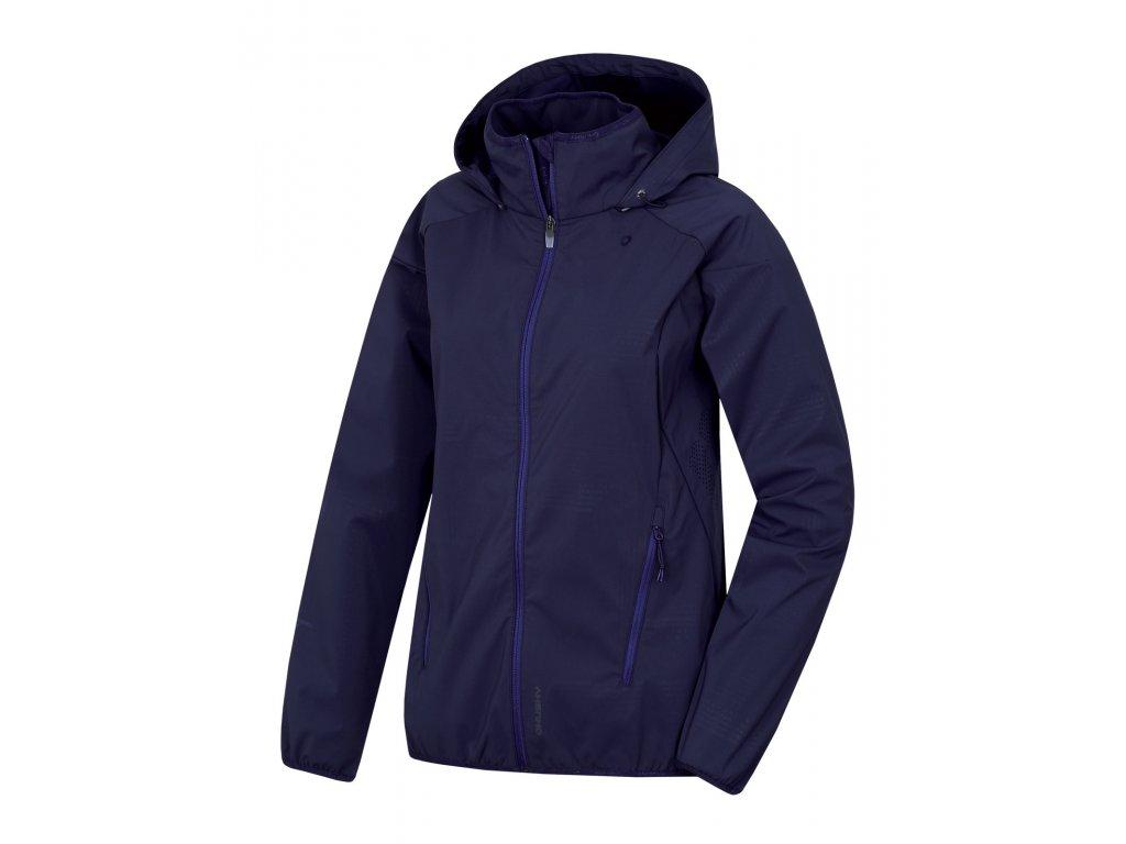 Dámská softshellová bunda Sally L tm. modrofialová