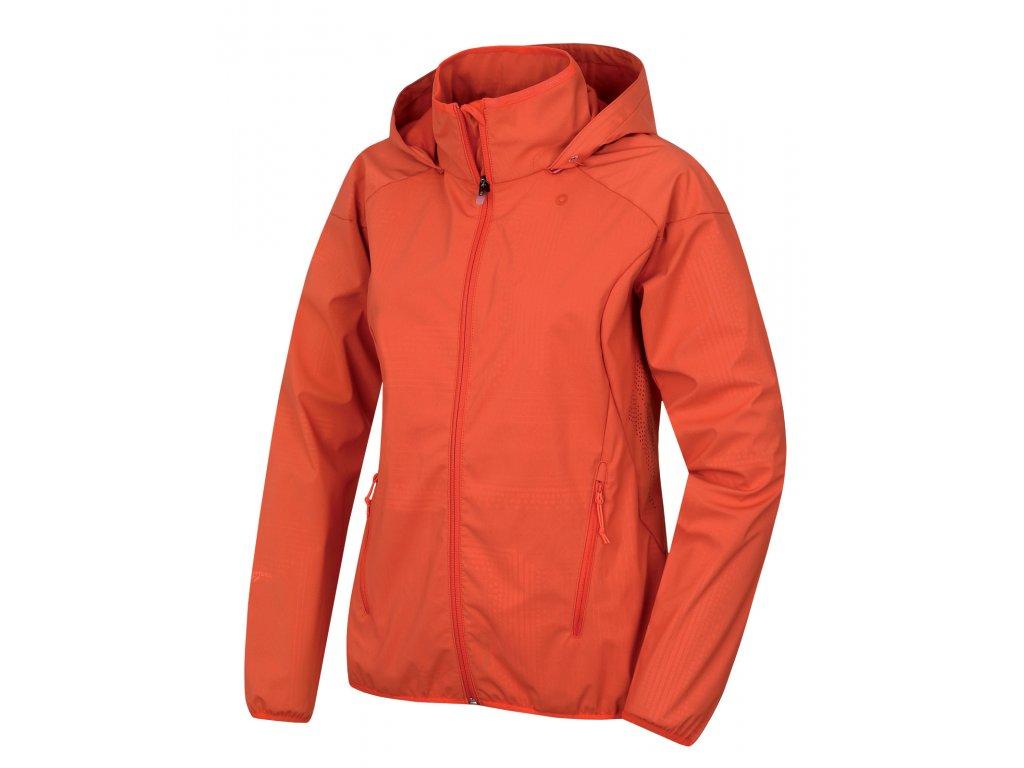 Dámská softshellová bunda Sally L výrazně oranžová