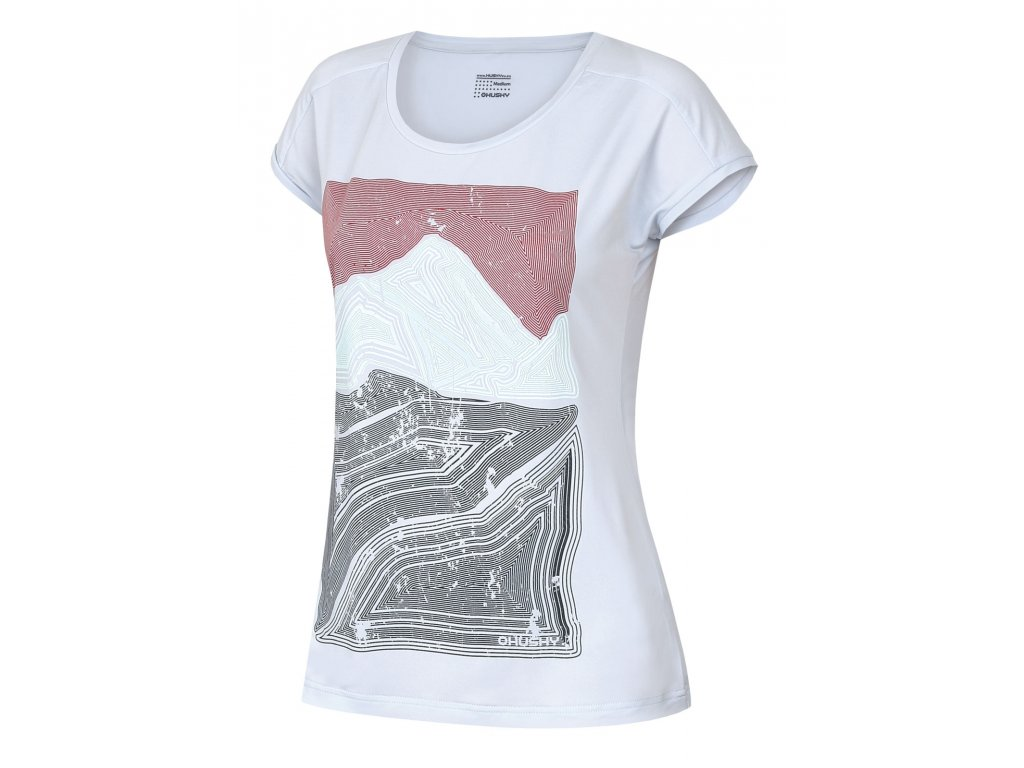 Dámské triko Tash L šedofialová