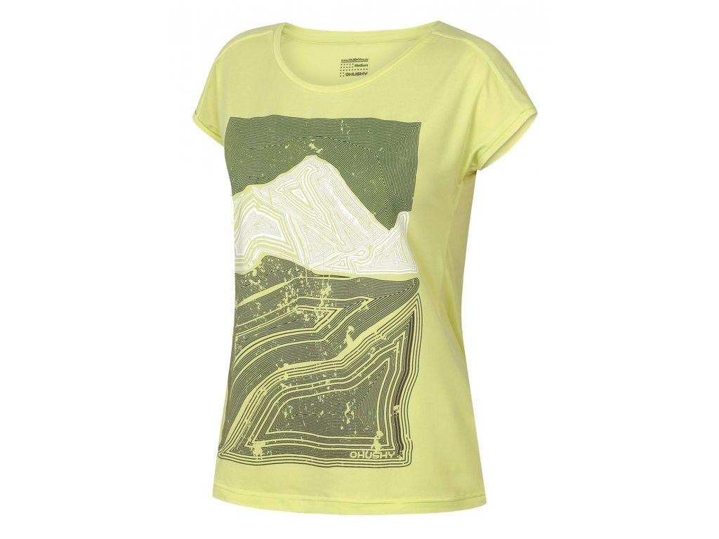 Dámské triko Tash L sv. zelená